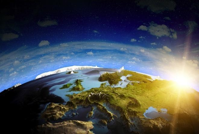 Вид на Україну з космосу