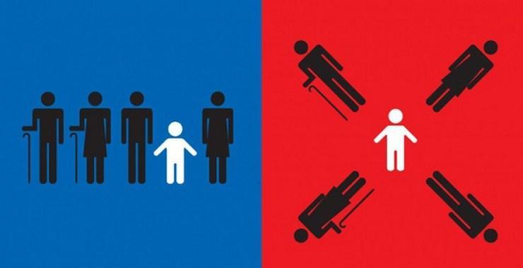в ярких иллюстрациях 17 различий между Западом и Востоком