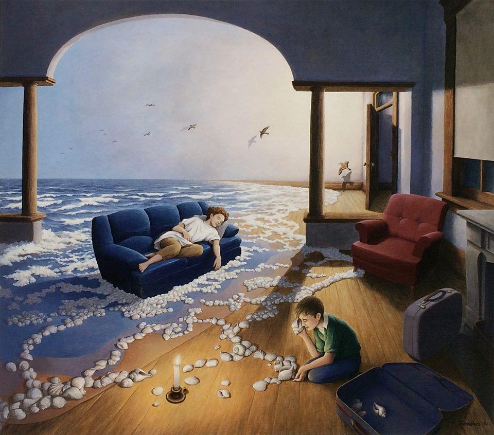 вынесет твой мозг своими картинами - нереальные оптические иллюзии Rob Gonsalves