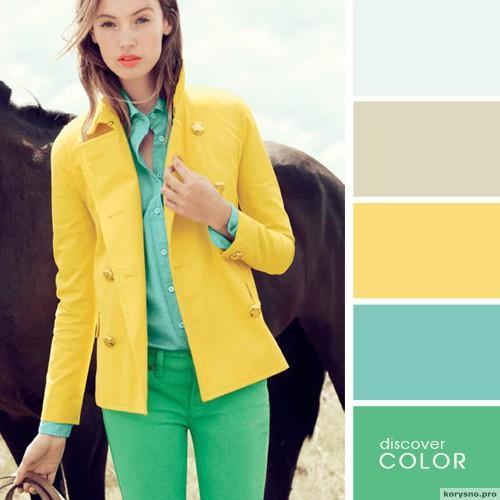 20 идеальных сочитаний цветов одежды17
