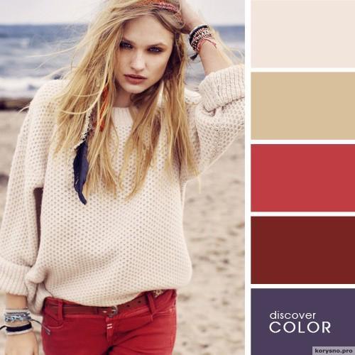 20 идеальных сочитаний цветов одежды19