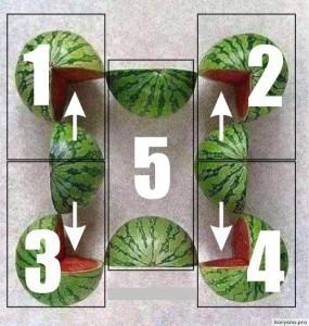 Если вы сможете верно посчитать, сколько арбузов на этом фото, то вы — гений!
