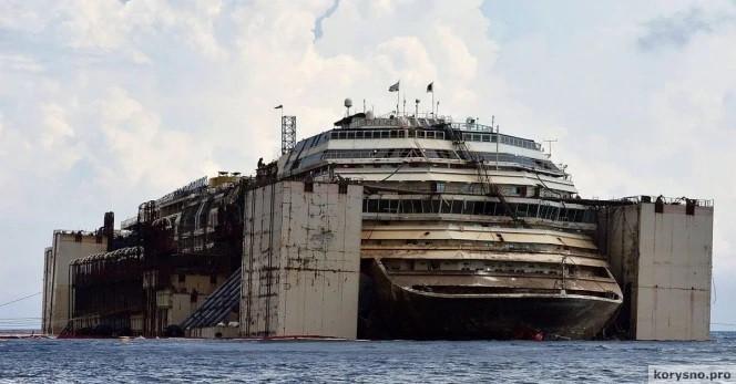 Со дна моря подняли лайнер Коста Конкордия. Кадры, от которых становится не по себе…