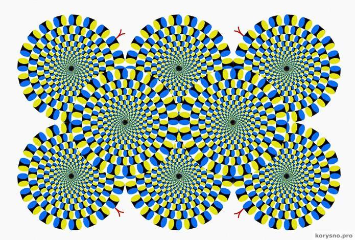 Иллюзия японского психиатра «Вращающийся змей»