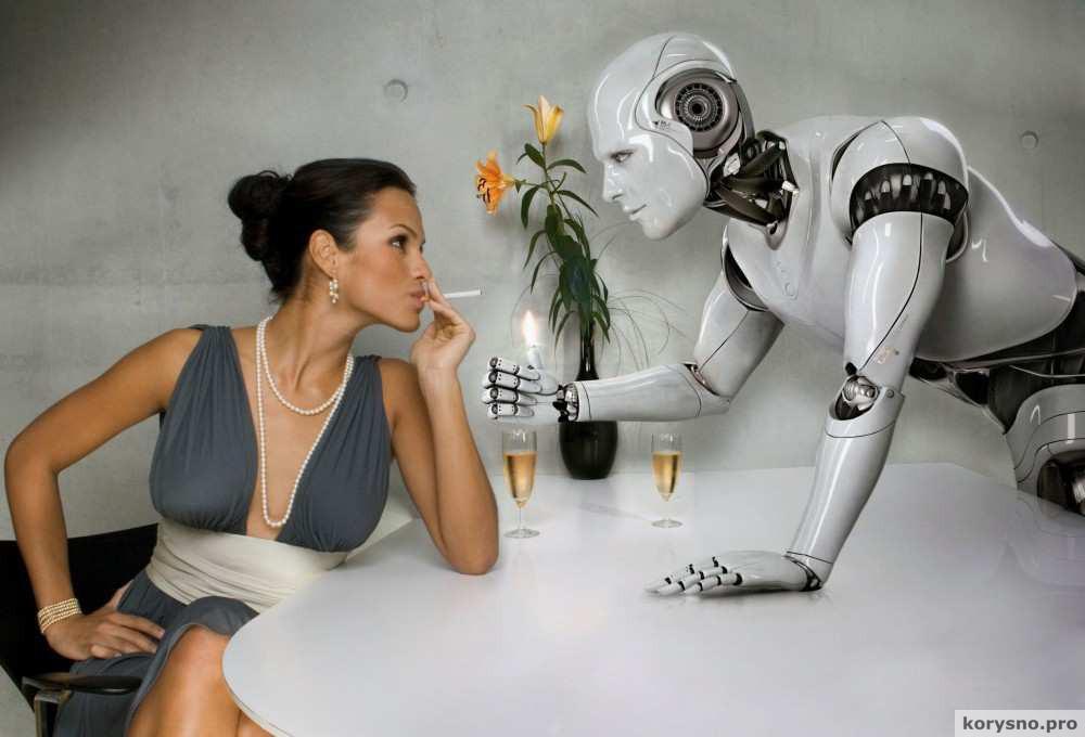 Секс робота с человеком видео