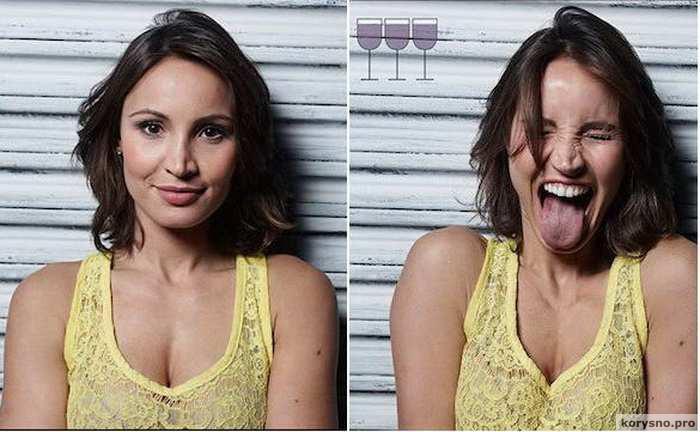 Три бокала спустя: портреты людей до и после употребления вина