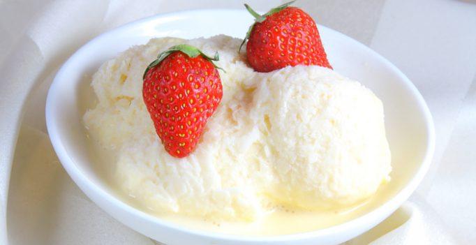 Мороженое в домашних условиях с молоком и сливками