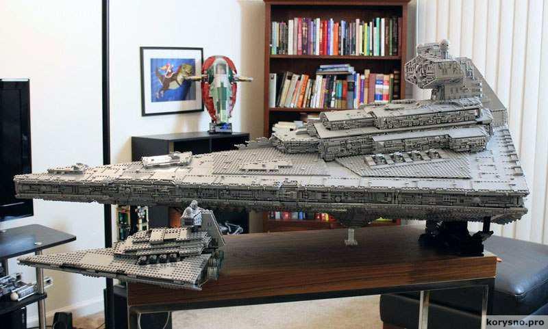 Парень построил из Lego космический корабль из «Звездных войн»