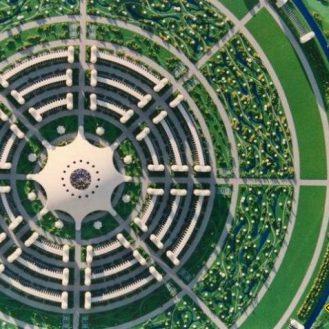 Планировка идеального города, разработанная Жаком Фреско