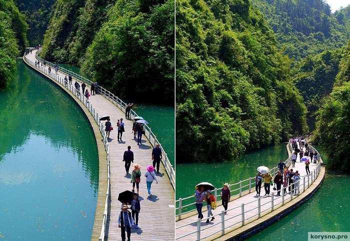 Прогулки по воде: пешеходная дорожка, построенная по руслу реки