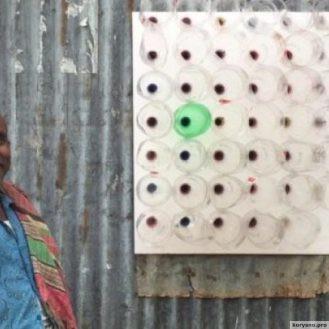 Мужчина из трущоб Бангладеша сделал кондиционер из пластиковых бутылок