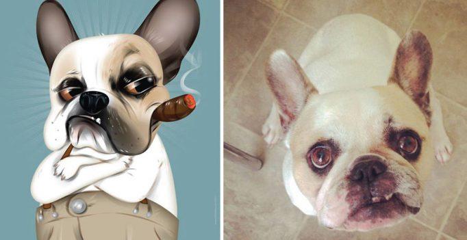 Портреты домашних животных, созданные по описаниям их владельцев