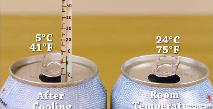 Как охладить напиток всего за две минуты