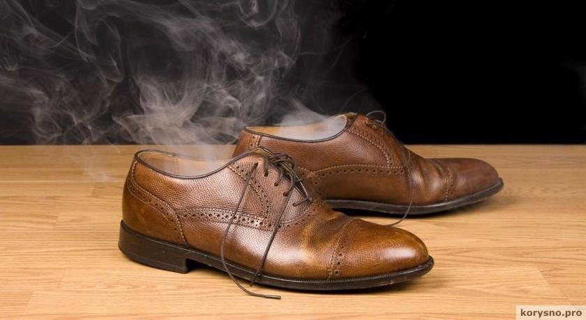 Убираем запах из обуви