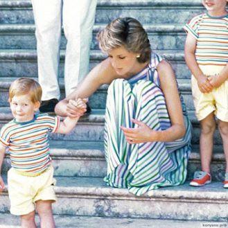Маленький принц 13 снимков Гарри, сделанных когда Диана была еще жива...