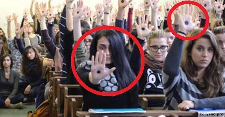 Если вы увидите черную точку на ладони у женщины — Немедленно звоните в полицию!