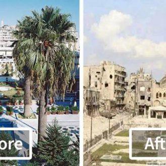 13 фото о том, во что война превратила главный город Сирии