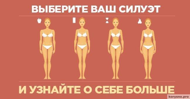 Выберите ваш силуэт и узнайте о себе больше