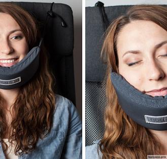 Девушка изобрела Гамак для головы, который решил главную проблему путешественников!
