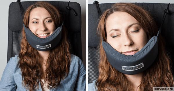 Девушка изобрела «Гамак для головы», который решил главную проблему путешественников!