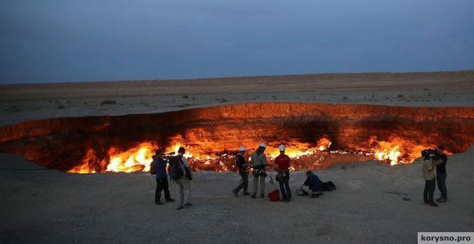 В Туркменистане есть «Дверь в преисподнюю»