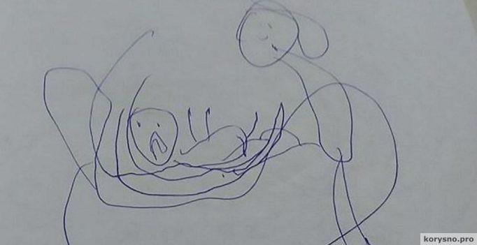 Найдя спрятанные рисунки 5-летней дочки, родители пришли в ужас!