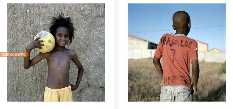 Как дети в Африке в футбол играют (фото)