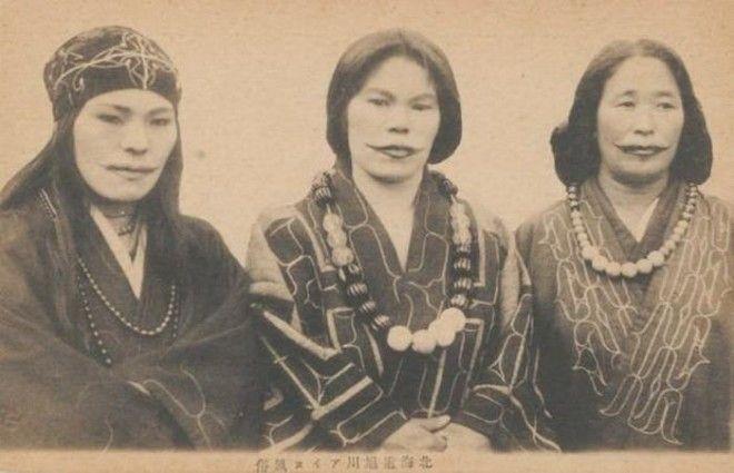 Разгадка древней традиции: зачем женщины народности айну делали татуировки-улыбки